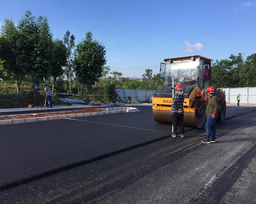 我公司监理的伟德app安卓城市基础设施PPP项目(一期)第一个道路项目沥青路面完工